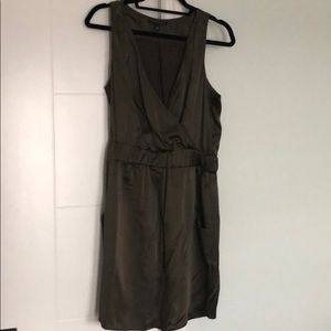 Satin wrap dress from Banana Republic